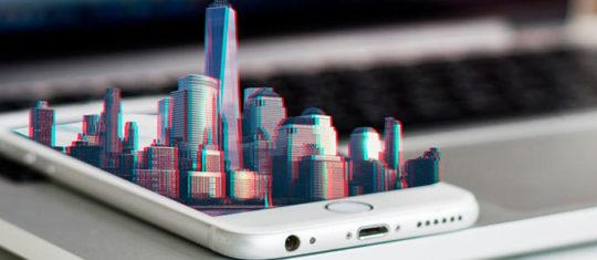 Image Hologramme 3D Ville